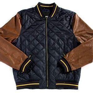Bar III Ink Blue Quilted Varsity Jacket Men's XL